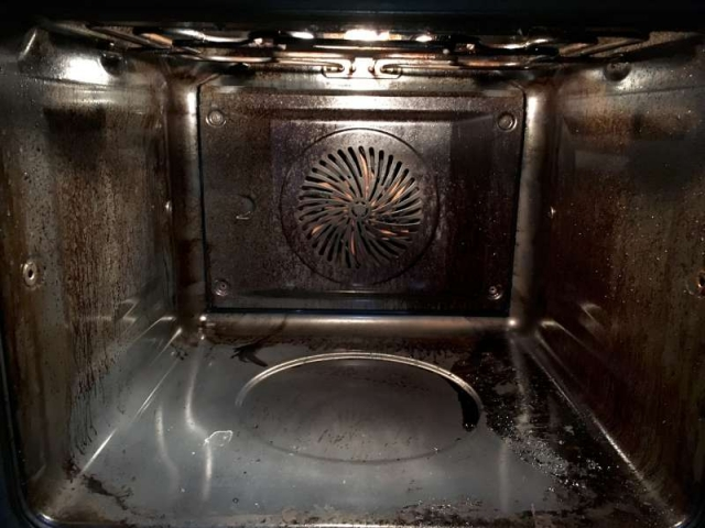 oven cleaning service before